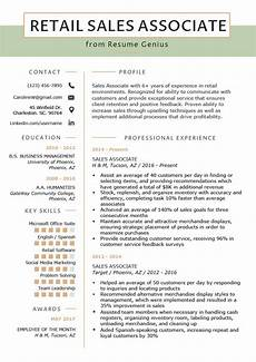 Retail Sales Manager Resume Samples Retail Sales Associate Resume Sample Amp Writing Tips