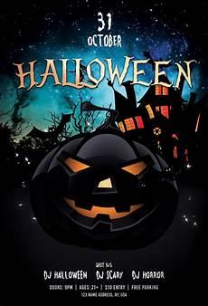 Halloween Flyers Templates Free Top 10 Free Halloween Psd Flyers For 2018 Freebiedesign Net