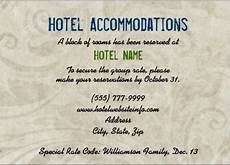 How To Word Hotel Accommodations For Wedding Invitations Hotel Block Wording For Enclosure Card Wedding