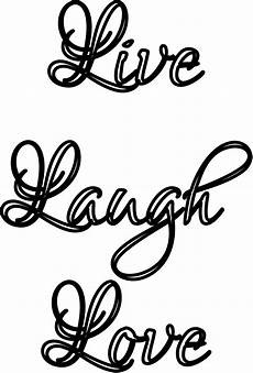 Design Your Own Online Lettering Quot Live Laugh Love Quot Stencil Print Customize Or Make Your