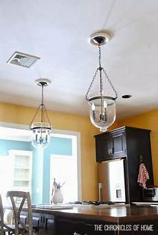 Convert A Can Light To A Pendant Light Tutorial How To Convert Recessed Lights To Pendants