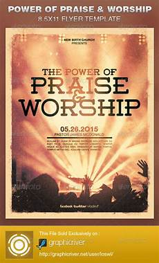 Christian Flyer Templates Free Power Of Praise And Worship Church Flyer Template On Behance