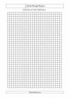 1 Inch Grid Paper Pdf 1 4 Inch Graph Paper With Black Lines A4 Size