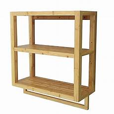 Bamboo Bath Furniture Bed Bath Beyond Buy Bamboo 2 Tier Wall Shelf With Towel Bar From Bed Bath