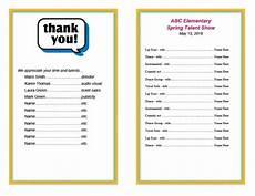 Event Program Booklet Template Event Program Template Wanew Org