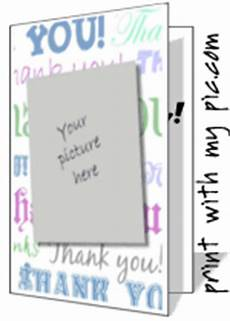 thank you card template with photo to print free printable cards birthday cards photo greeting card