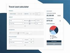 Travel Costs Calculator Travel Cost Splitter Calculator Dashboard Travel