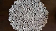 crochet doily rounded pineapples doily part 1
