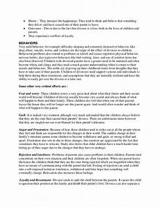Cause And Effect Essay Divorce Sample Essay On Divorce