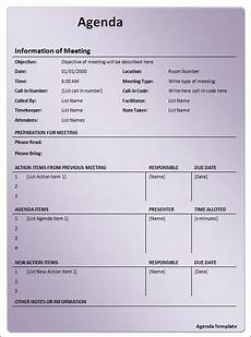 Template Of An Agenda Agenda Template 12 Download Free Documents In Pdf