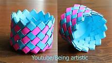 easy way to make paper basket paper craft home decor