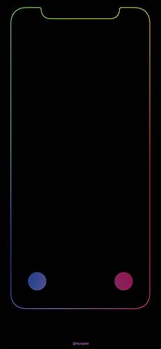 iphone x black wallpaper with border iphone x lockscreen outline iphonewallpapers