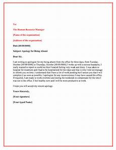 Letter Of Absence Letter Of Permission To Be Absent From Work Top Form