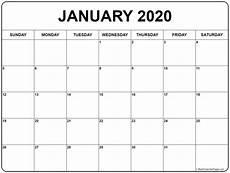 January Editable Calendar 2020 Create Your January 2020 Calendar Printable Editable