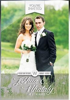 Wedding Invitation Card With Photo 24 Photo Wedding Invitations Ai Psd Indesign Word