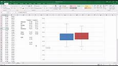 Excel Box And Whisker Creating A Boxplot In Excel 2016 Youtube