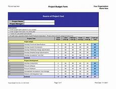 Project Budget Template Excel Project Budget Template E Commercewordpress