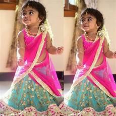 Children Saree Design Cute Babay In Half Saree Kids Dresses Pinterest Half