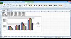 Overlay Charts In Excel 2010 How To Make A 2d Column Chart In Excel 2010 Youtube