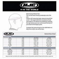 Kbc Helmet Size Chart Hjc Helmet Size Chart Youth