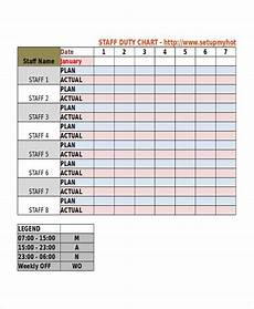 Shift Roster Format 8 Duty Roster Templates Words Templates Sample Resume