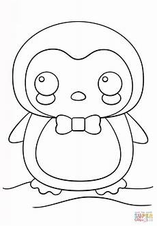 kawaii penguin coloring page free printable coloring pages