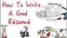 How To Write A Resum How To Write A R 233 Sum 233 That Stands Out Youtube