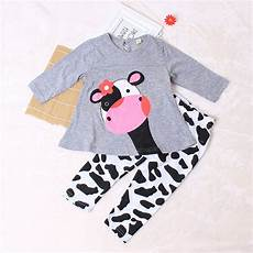 cow baby clothes cow kid baby clothes set cotton sleeve