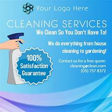 Cleaning Services Advertising Light Blue Cleaning Service Advertisement Sample