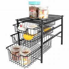 3s sliding basket organizer drawer cabinet storage