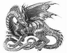 Ausmalbilder Drachen Mandala Myth Mythical Mystical Legend Dragons Wings