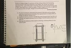 Perform A Fatigue Design Of A Pressure Cylinder S