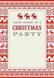 Holiday Party Invitations Template Sweaters Pattern Free Printable Christmas Invitation