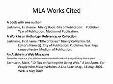 What Is Works Cited Page Ppt Mla Works Cited Powerpoint Presentation Free