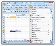 Design Tab Excel 2010 Where Is Excel Options In Microsoft Excel 2007 2010 2013