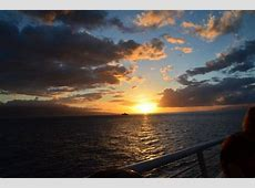 bow of boat at night   Picture of Maui Princess Sunset