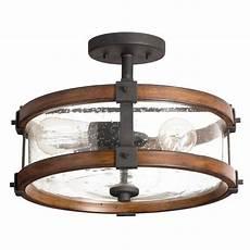 Kichler Semi Flush Mount Lighting Shop Kichler Lighting Barrington 14 02 In W Distressed