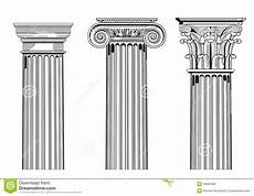 Column Types Classic Architectural Columns Stock Vector Image 29004285