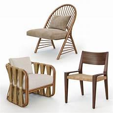 Wicker Rattan Sofa 3d Image by Rattan Wicker Chairs 3d Turbosquid 1291465