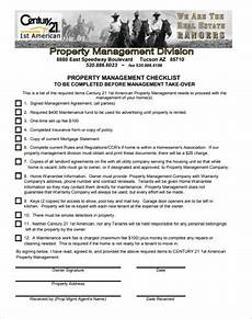 Property Management Takeover Checklist Free 11 Property Management Checklist Examples