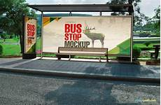 Bus Stop Poster Template Spectacular Bus Stop Mockups And Roadside Poster Mockups