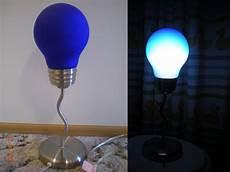 Light Bulb Shaped Lamp Blue Light Bulb Shaped Lamp In Onthemove S Garage Sale