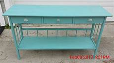 Teal Sofa Table 3d Image by Painted Sofa Table Light Teal Blue Sold