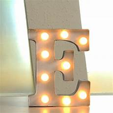 Metal Letters With Lights Wholesale 12 Quot Metal Letters Light Led Alphabet Marquee Sign Vintage