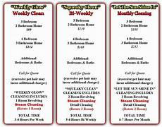 House Cleaning Price Guide 40 Cleaning Services Price List Template In 2020 House