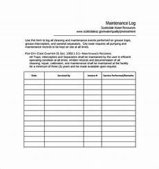 Maintenance Log Template Free Sample Maintenance Log Template 9 Free Documents In Pdf
