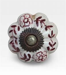 pomello ceramica pomello indiano viola dipinto con fiori ceramica cod
