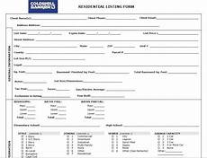 Property Listing Form Template The Real Estate Listing Set Open Houses Real Estate