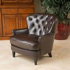 leather accent chairs for living room living room furniture brown tufted leather club chair w