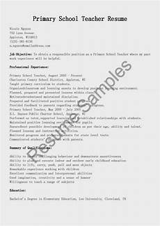 Primary School Teacher Resumes Resume Samples Primary School Teacher Resume Sample